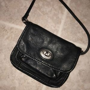 Fossil Bags - Black leather fossil purse